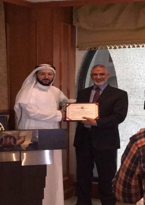 Magrabi Al-Madinah  honors  Dr. Abduljid Al-Batal