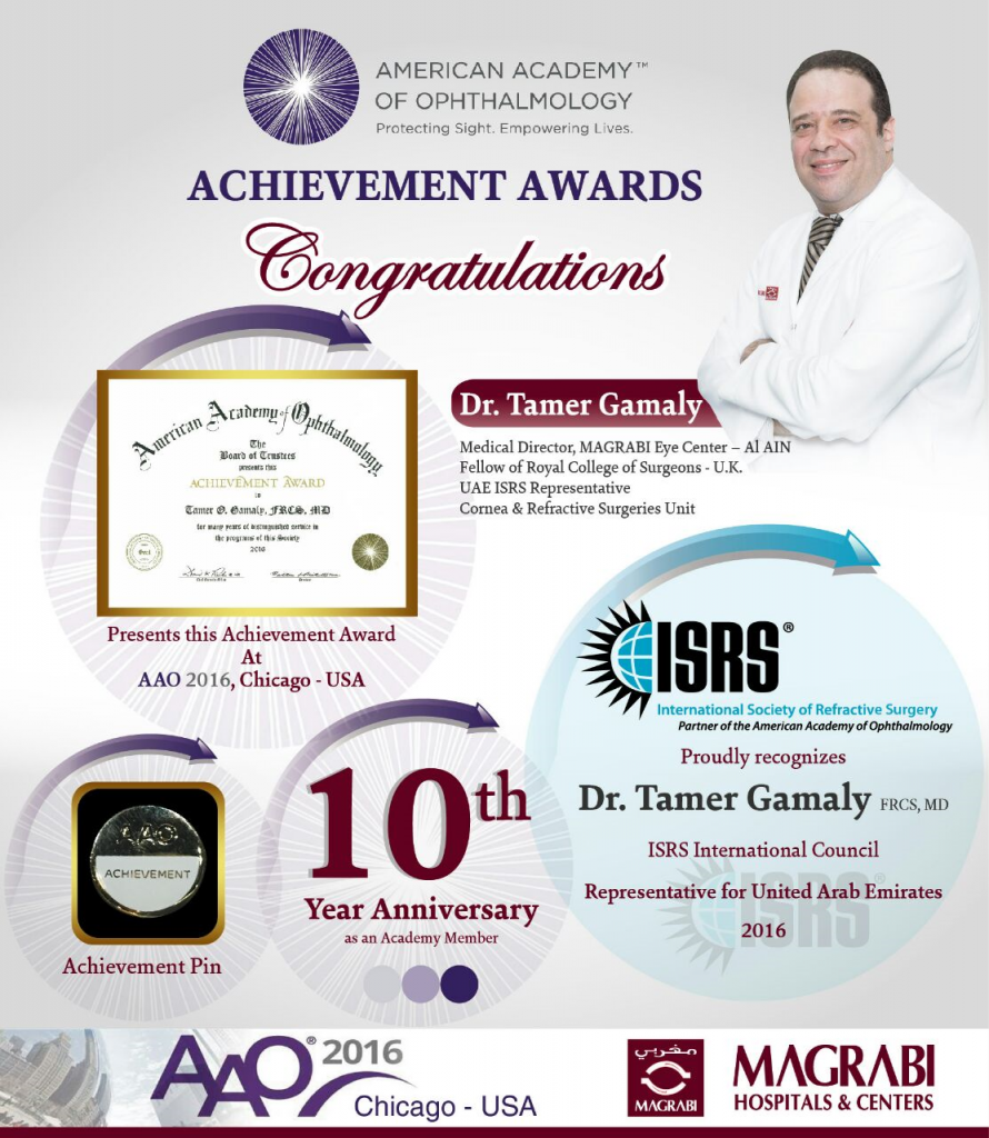 Dr. Tamer Gamaly wins American Academy Achievement Award