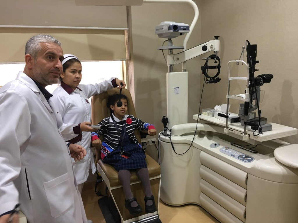 MAGRABI checks Al-Basam  School students eyesight