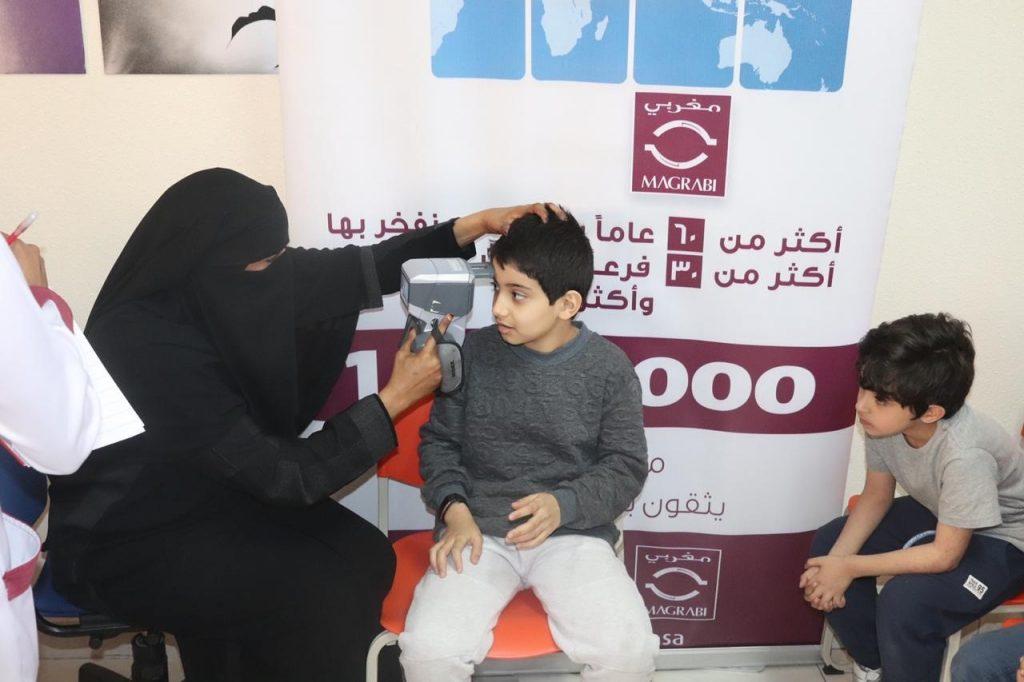 مغربي عسير تفحص نظر طلاب مدارس طلائع المستقبل العالمية
